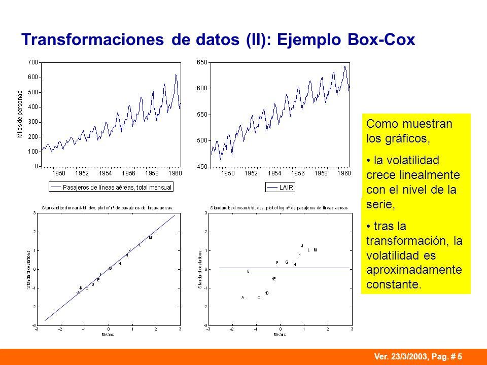 Transformaciones de datos (II): Ejemplo Box-Cox