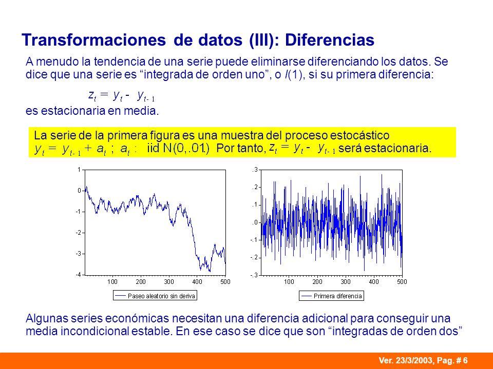 Transformaciones de datos (III): Diferencias