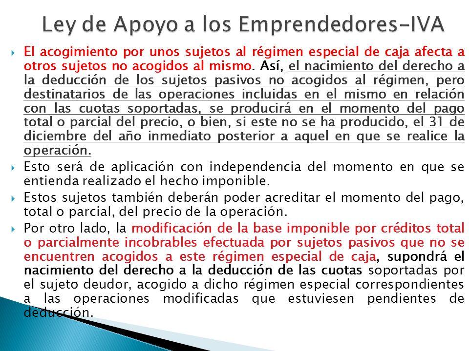 Ley de Apoyo a los Emprendedores-IVA