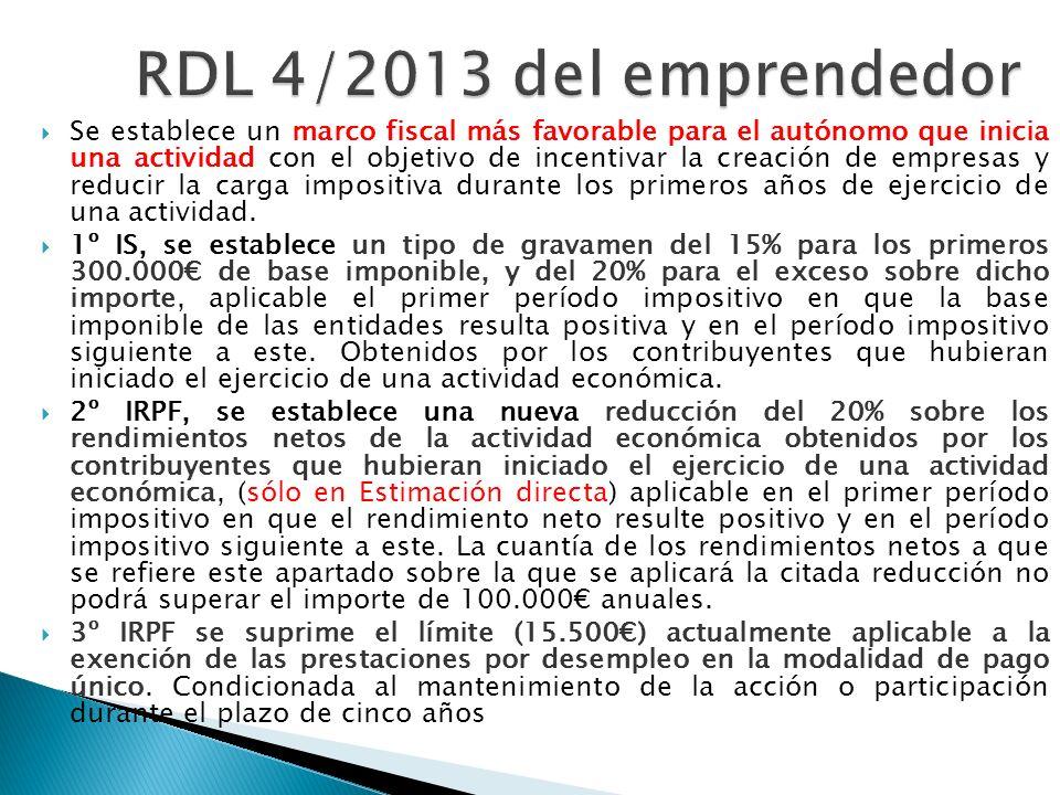 RDL 4/2013 del emprendedor