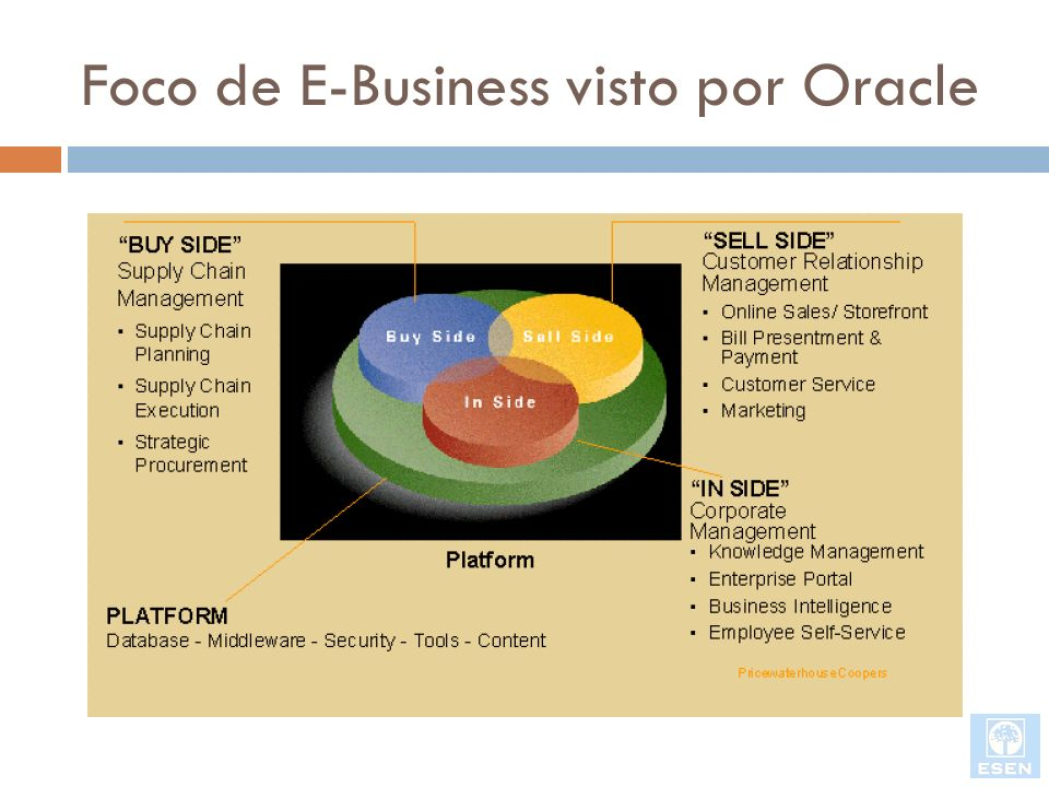 Foco de E-Business visto por Oracle