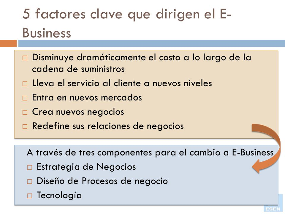 5 factores clave que dirigen el E-Business