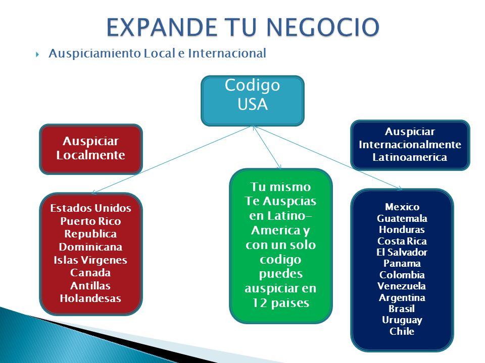 America y con un solo codigo puedes auspiciar en 12 paises