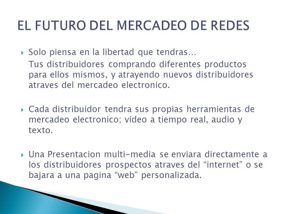 EL FUTURO DEL MERCADEO DE REDES