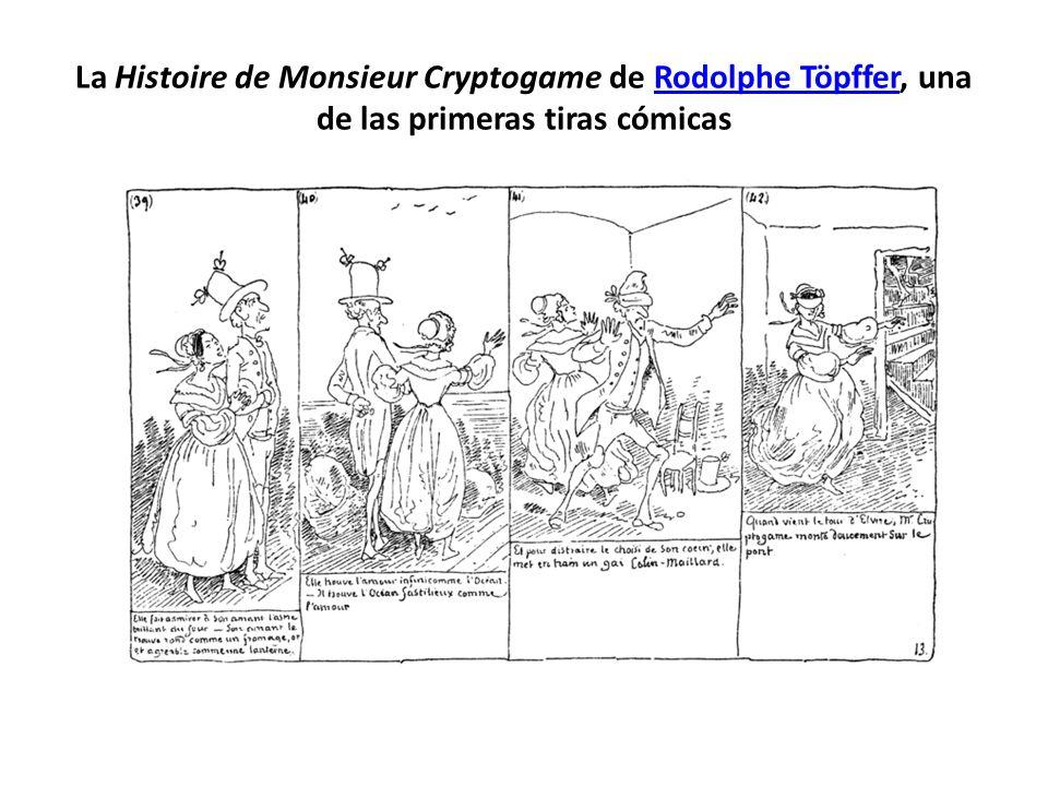 La Histoire de Monsieur Cryptogame de Rodolphe Töpffer, una de las primeras tiras cómicas