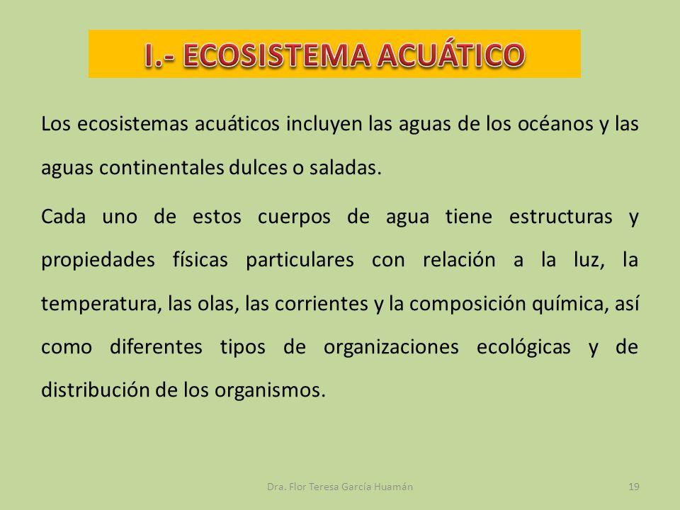 I.- ECOSISTEMA ACUÁTICO