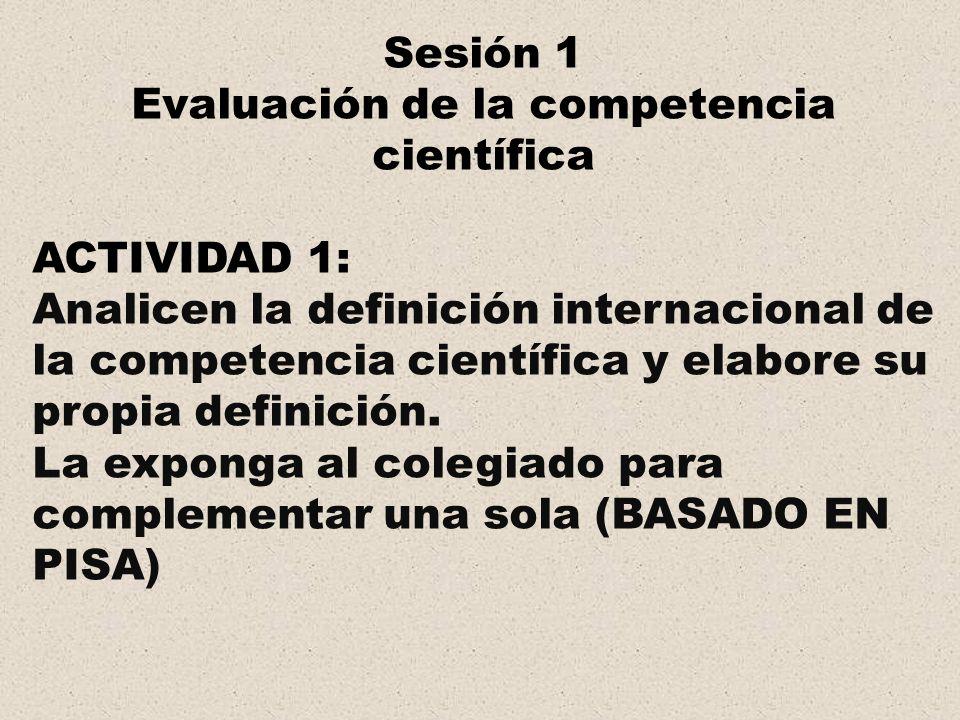 Evaluación de la competencia científica