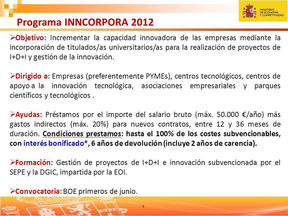 Programa INNCORPORA 2012