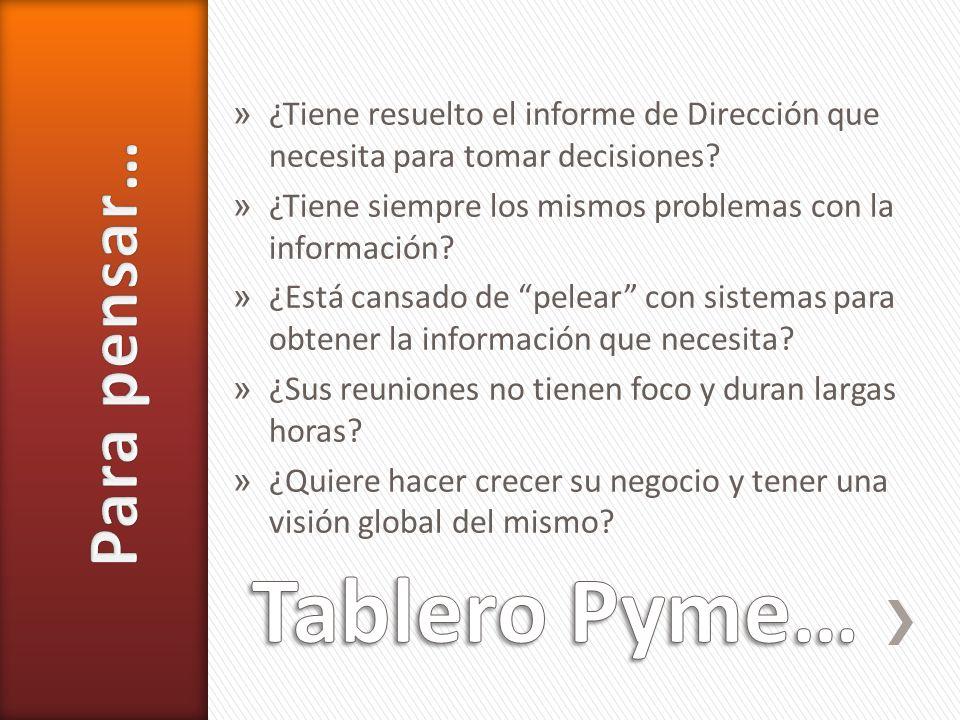 Tablero Pyme… Para pensar…