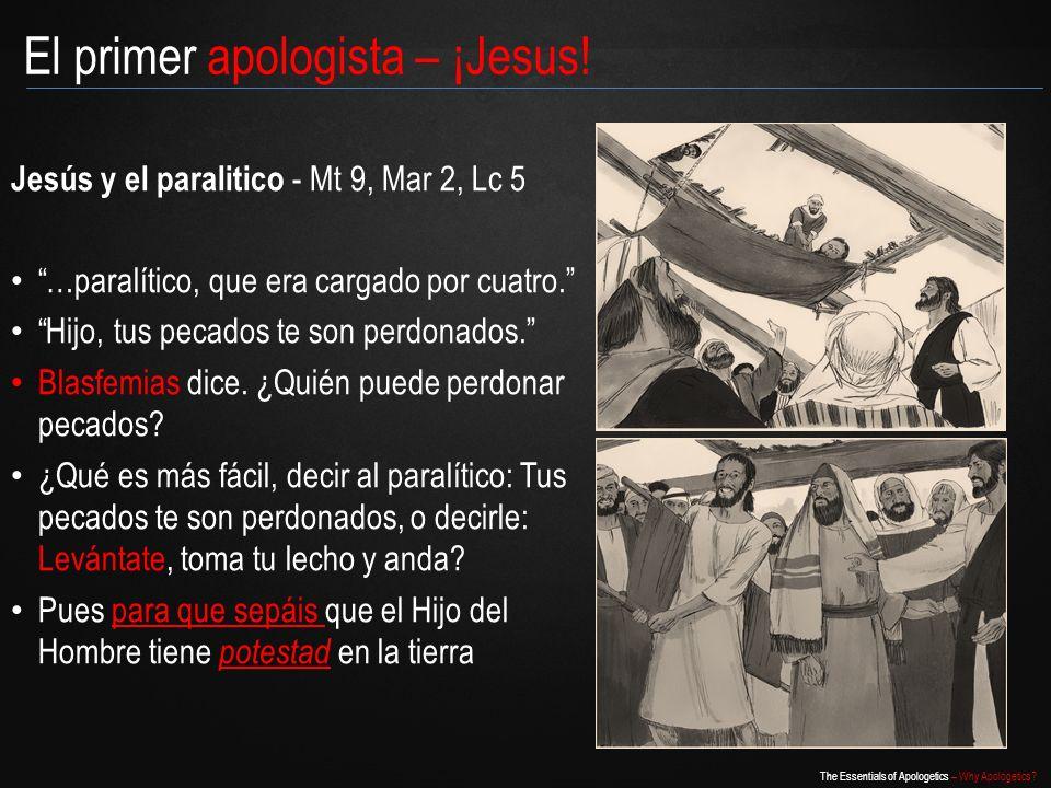 El primer apologista – ¡Jesus!