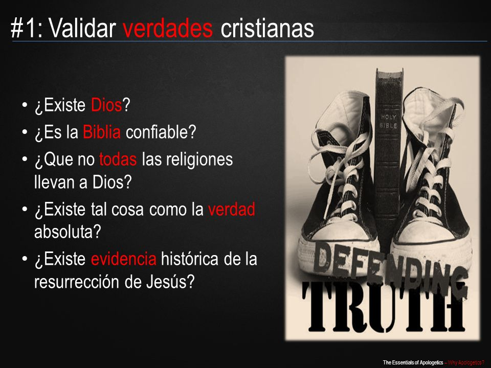 #1: Validar verdades cristianas