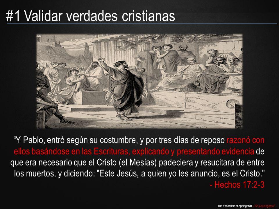 #1 Validar verdades cristianas