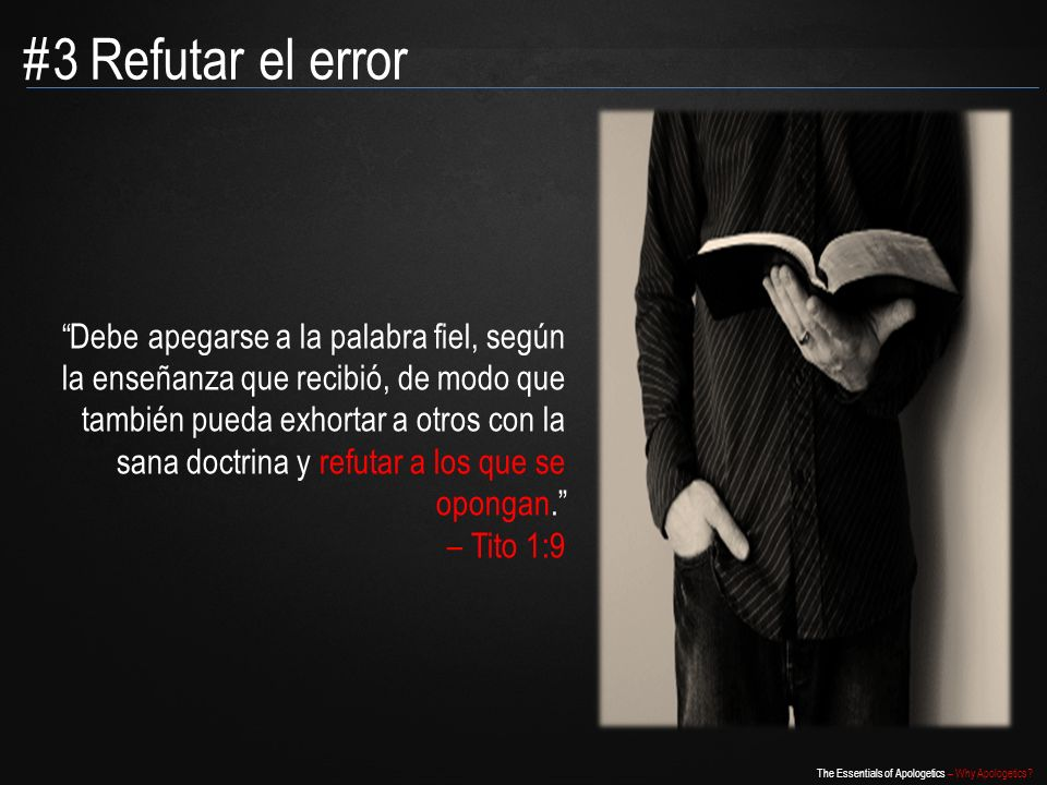 #3 Refutar el error