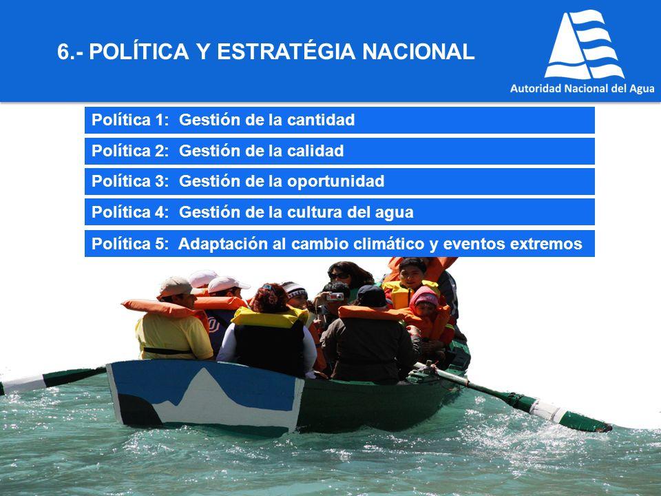 6.- POLÍTICA Y ESTRATÉGIA NACIONAL
