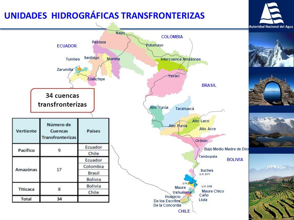 34 cuencas transfronterizas