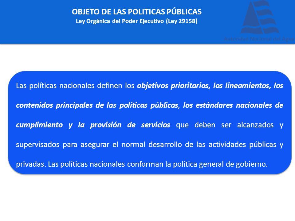 OBJETO DE LAS POLITICAS PÚBLICAS
