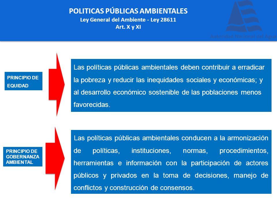 POLITICAS PÚBLICAS AMBIENTALES Ley General del Ambiente - Ley 28611