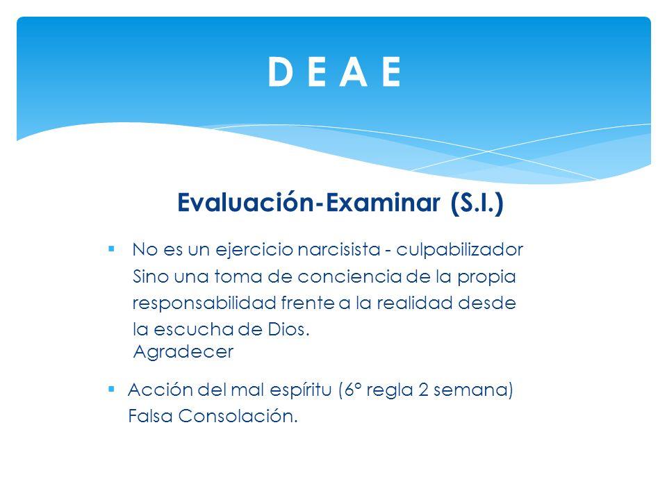 Evaluación-Examinar (S.I.)
