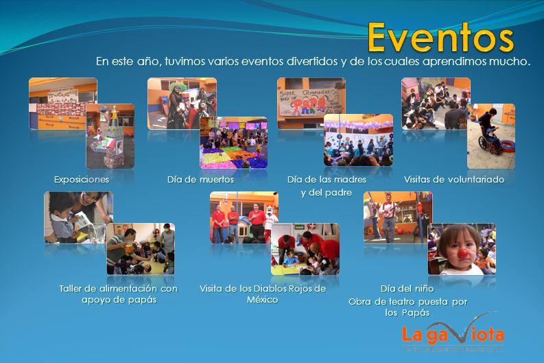 Eventos En este año, tuvimos varios eventos divertidos y de los cuales aprendimos mucho. Exposiciones.