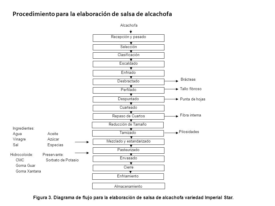 Procedimiento para la elaboración de salsa de alcachofa