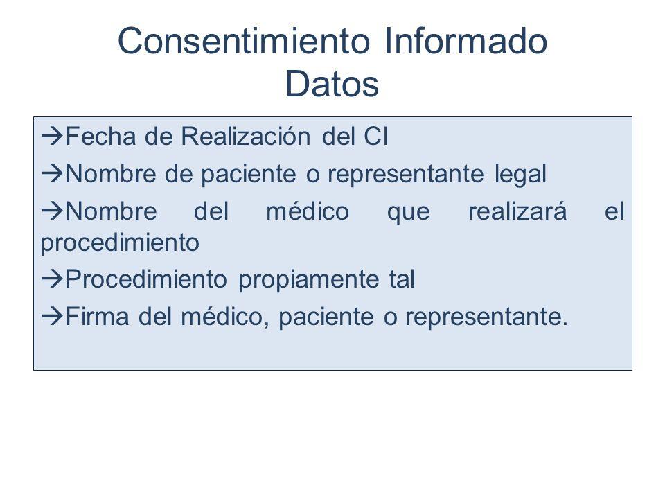 Consentimiento Informado Datos