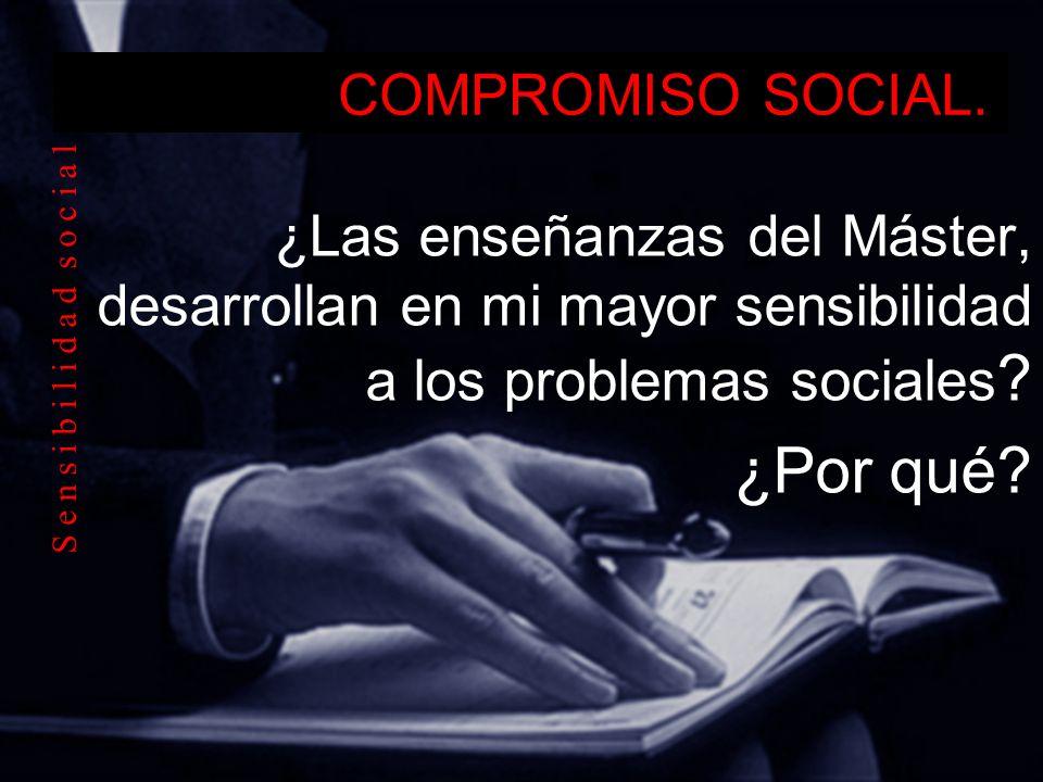 ¿Por qué COMPROMISO SOCIAL.