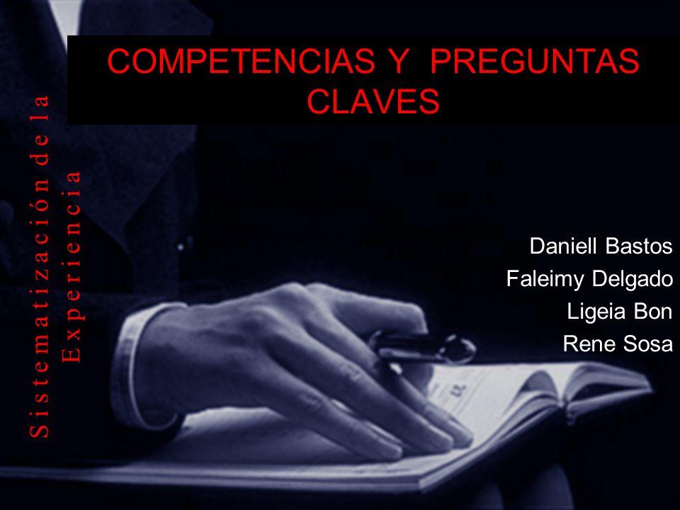 COMPETENCIAS Y PREGUNTAS CLAVES