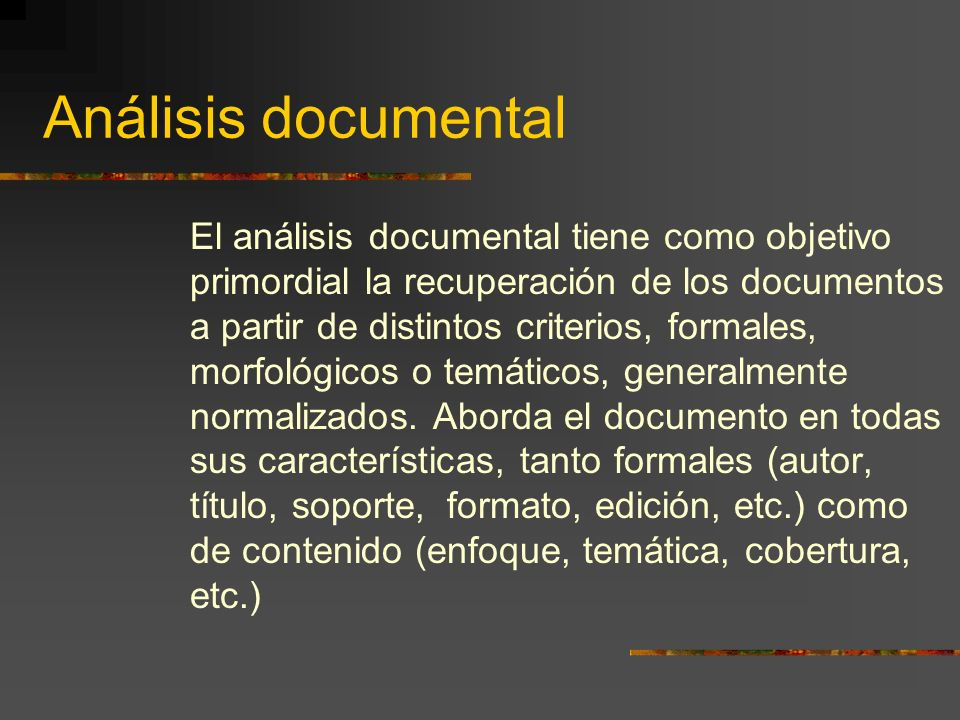 Análisis documental