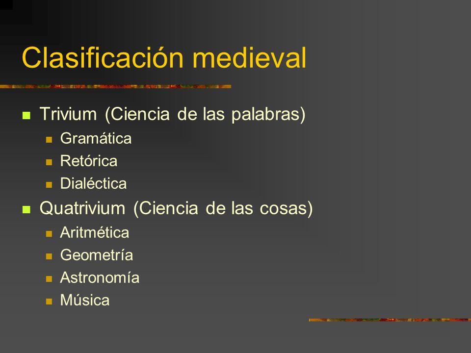 Clasificación medieval