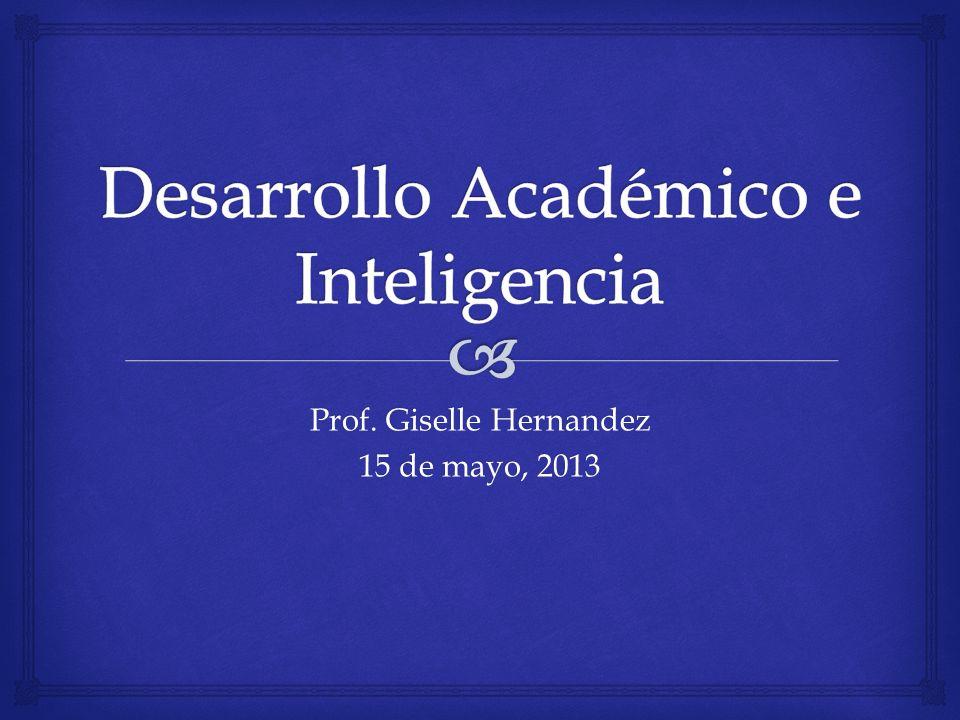 Desarrollo Académico e Inteligencia