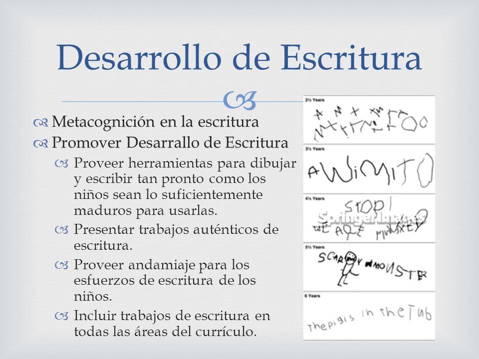 Desarrollo de Escritura