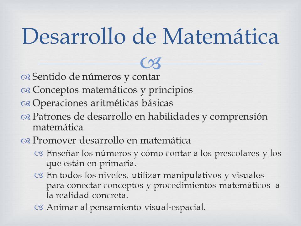 Desarrollo de Matemática