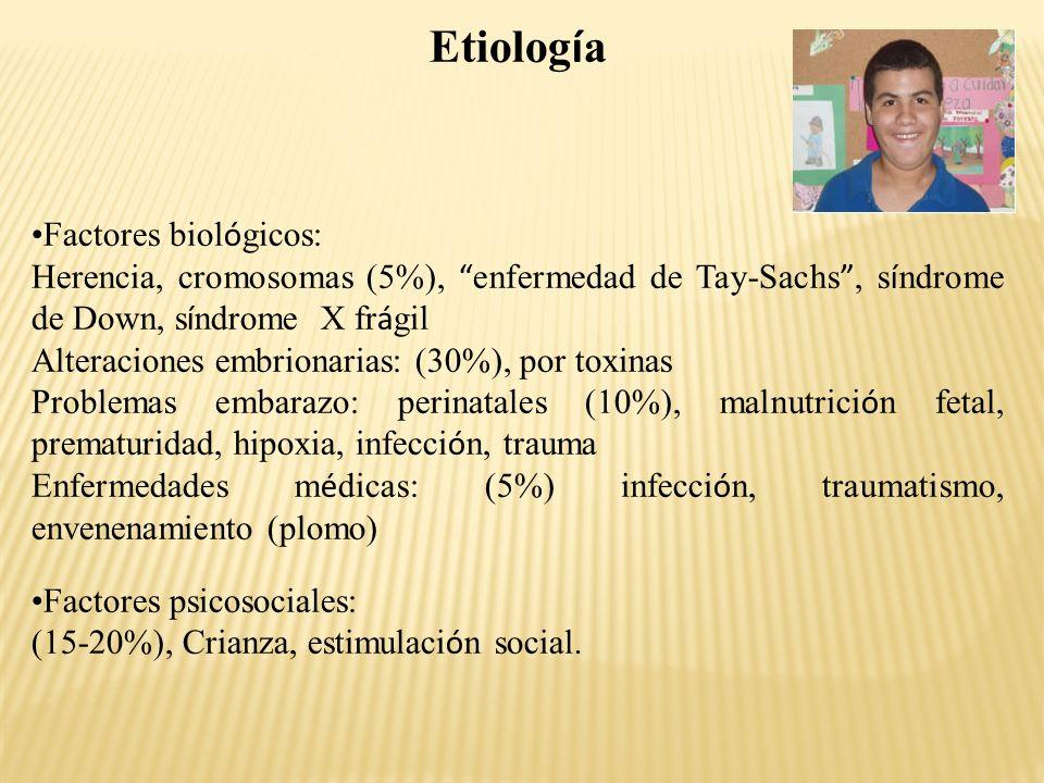 Etiología Factores biológicos: