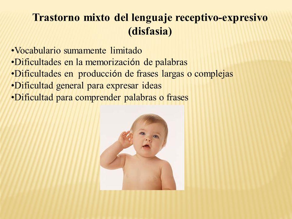 Trastorno mixto del lenguaje receptivo-expresivo (disfasia)
