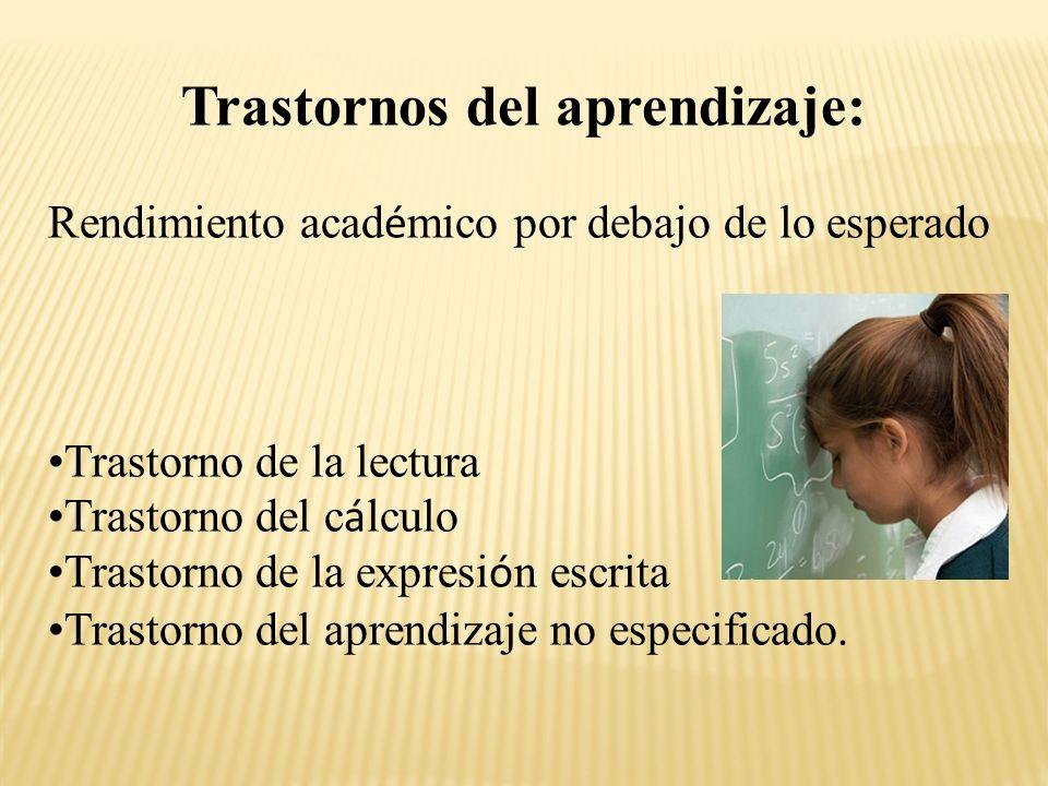 Trastornos del aprendizaje: