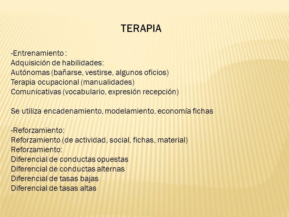TERAPIA -Entrenamiento : Adquisición de habilidades: