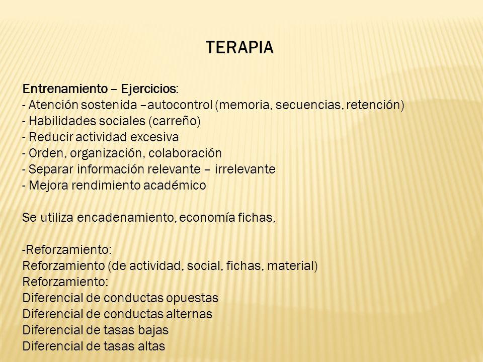 TERAPIA Entrenamiento – Ejercicios: