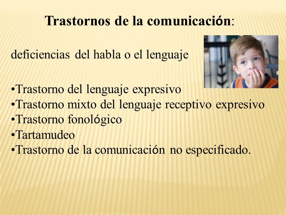 Trastornos de la comunicación: