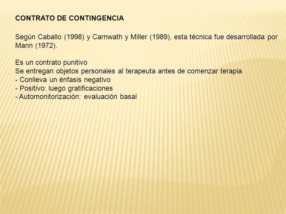 CONTRATO DE CONTINGENCIA