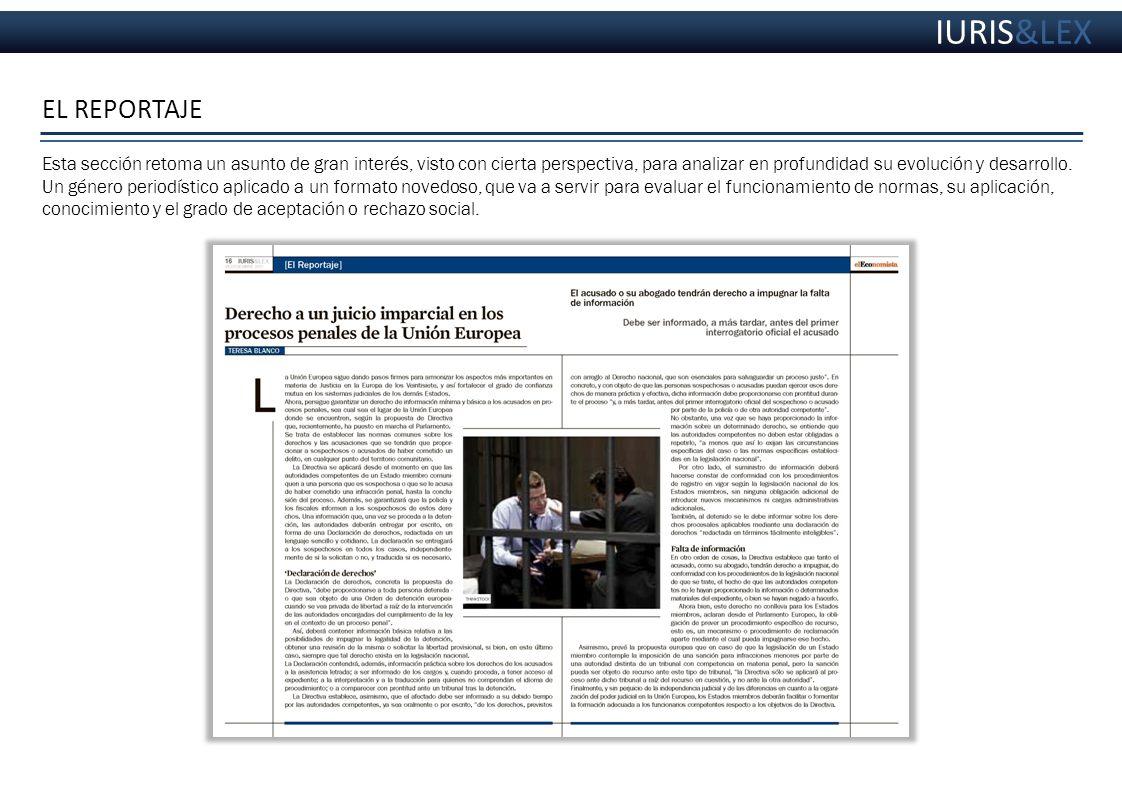 IURIS&LEX EL REPORTAJE