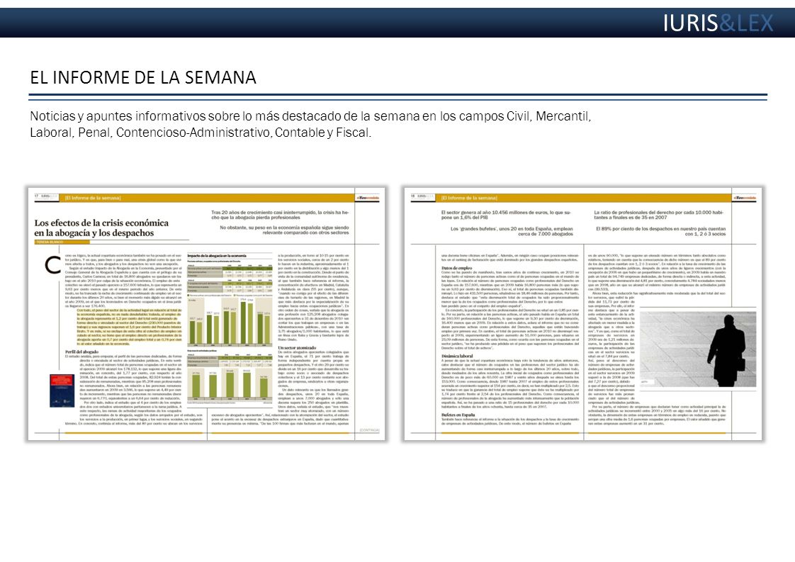 IURIS&LEX EL INFORME DE LA SEMANA