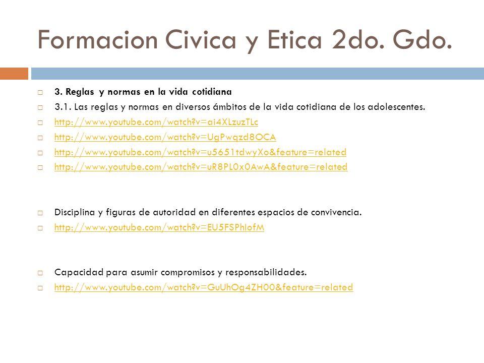 Formacion Civica y Etica 2do. Gdo.