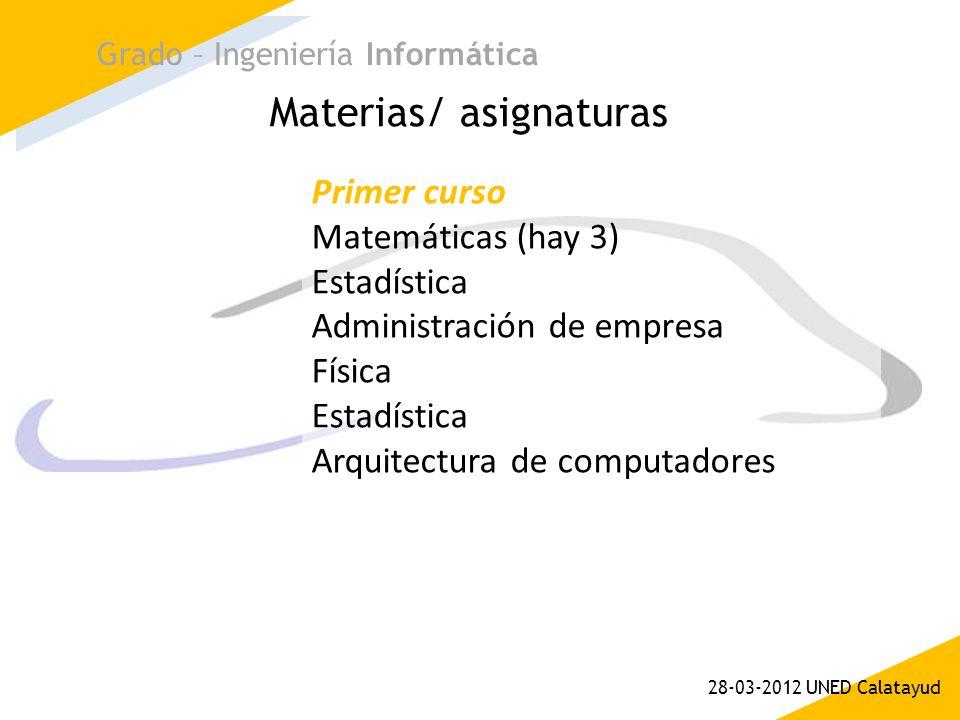 Materias/ asignaturas