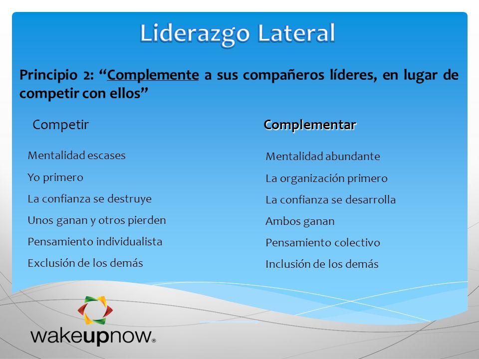 Liderazgo Lateral Principio 2: Complemente a sus compañeros líderes, en lugar de competir con ellos