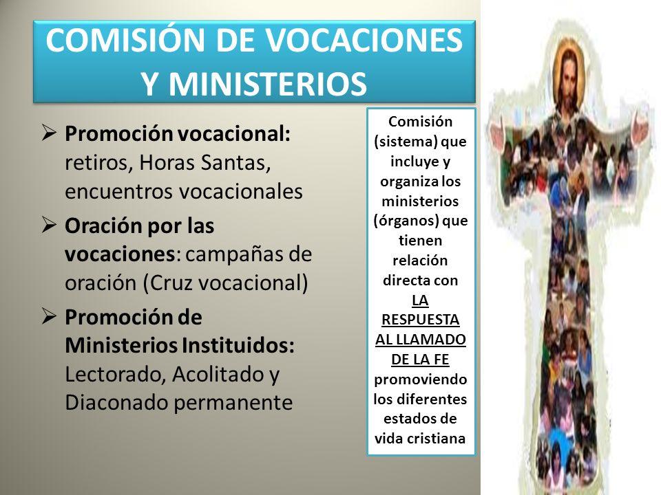 COMISIÓN DE VOCACIONES Y MINISTERIOS