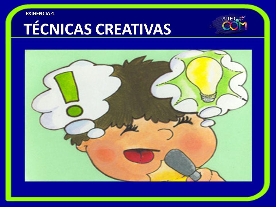 EXIGENCIA 4 TÉCNICAS CREATIVAS