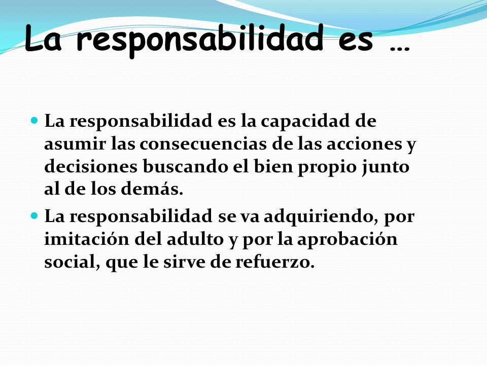 La responsabilidad es …