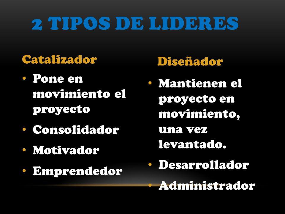 2 Tipos de lideres Catalizador Diseñador