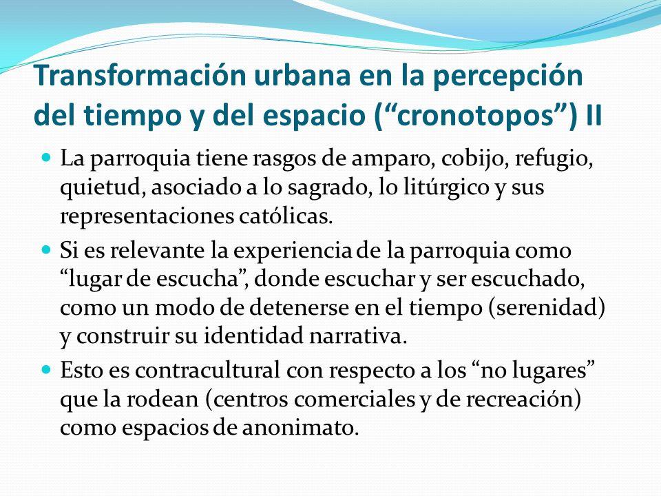 Transformación urbana en la percepción del tiempo y del espacio ( cronotopos ) II