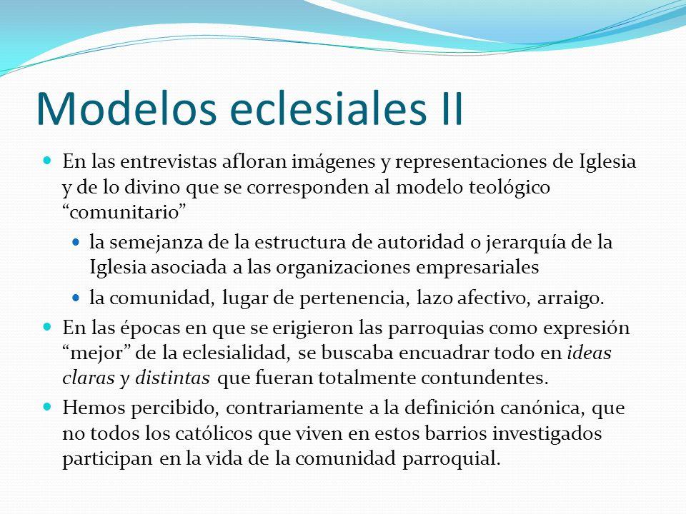 Modelos eclesiales II